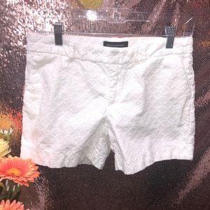 Banana Republic White Textured Shorts